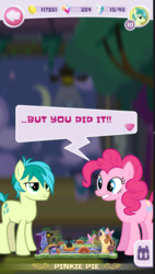Size: 571x1007 | Tagged: safe, pinkie pie, sandbar, earth pony, pony, game screencap, pocket ponies