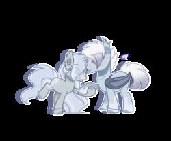 Size: 1280x1059   Tagged: safe, artist:jxst-alexa, oc, oc only, bat pony, pony, unicorn, female, male, mare, simple background, stallion, transparent background