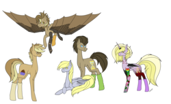 Size: 6517x3981 | Tagged: 13, amputee, artist:icey-wicey-1517, artist:moonlight0shadow0, augmented, brother and sister, clothes, collaboration, colored, color edit, cyborg, derpy hooves, dinky hooves, doctorderpy, doctor whooves, ear piercing, earring, earth pony, edit, family, father and daughter, father and son, feather, female, flower, flying, glasses, heart, horn ring, icey-verse, jewelry, lip piercing, male, mare, mother and daughter, mother and son, next generation, nose piercing, nose ring, oc, oc:clockwork (ice1517), oc:tinker (ice1517), offspring, parent:derpy hooves, parent:doctor whooves, parents:doctorderpy, pegasus, piercing, pony, prosthetic limb, prosthetics, prosthetic wing, raised hoof, safe, shipping, siblings, signature, simple background, sisters, snake bites, socks, stallion, straight, tattoo, time turner, transparent background, unicorn, wall of tags, wings