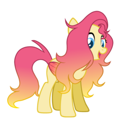 Size: 1688x1656 | Tagged: safe, artist:thesmall-artist, oc, oc:sunrise song, pegasus, pony, female, magical lesbian spawn, mare, offspring, parent:fluttershy, parent:sunset shimmer, parents:sunshyne, simple background, solo, transparent background