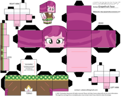 Size: 2979x2354 | Tagged: artist:grapefruitface1, arts and crafts, cheerilee, craft, cubeecraft, equestria girls, papercraft, printable, safe, solo, template