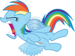Size: 5241x3882 | Tagged: artist:frownfactory, eyes closed, faic, female, flight to the finish, mare, open mouth, pegasus, rainbow dash, safe, simple background, solo, svg, .svg available, transparent background, vector, wings, yelling