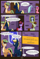 Size: 4750x7000 | Tagged: safe, artist:chedx, clover the clever, oc, oc:nightfall star, earth pony, pony, unicorn, comic:mlp old tales, absurd resolution, academy, adventure, alternate timeline, comic, fanfic, fantasy