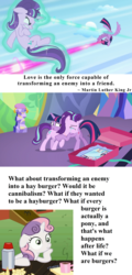 Size: 1920x4008 | Tagged: alicorn, burger, celestial advice, cloud, crying, cushion, cute, deep thoughts, dodge, duel, edit, edited screencap, emotional, enemy, eyes closed, fight, flying, food, friendship, glare, gritted teeth, hay burger, hug, laser, levitation, love, magic, magic beam, magic blast, martin luther king jr., mirror, painting, pedestal, photos, pony, present, quote, ribbon, safe, screencap, self-levitation, smiling, snuggling, starlight glimmer, student, sweetie belle, teacher, tears of joy, telekinesis, text, the cutie re-mark, twilight's castle, twilight sparkle, twilight sparkle (alicorn)