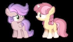 Size: 1280x745 | Tagged: safe, artist:foxysparkle, oc, oc only, pegasus, pony, unicorn, colt, half-siblings, magical lesbian spawn, male, offspring, parent:apple bloom, parent:scootaloo, parent:sweetie belle, parents:scootabelle, parents:sweetiebloom