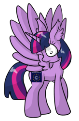 Size: 1234x1879 | Tagged: alicorn, alternate cutie mark, april fools, april fools 2019, article 13, artist:raktor, censorship, european union, female, flag, looking at cutie mark, looking back, mare, meta, pony, safe, simple background, solo, transparent background, twilight sparkle, twilight sparkle (alicorn)