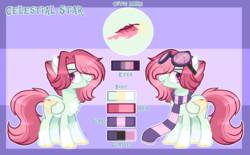 Size: 4513x2791 | Tagged: artist:sugaryicecreammlp, chest fluff, clothes, female, goggles, mare, oc, oc:celestial star, pegasus, pony, safe, scarf, solo, two toned wings
