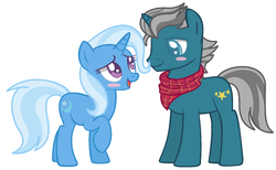 Size: 1568x964 | Tagged: safe, artist:1313jaysong1313, fashion plate, trixie, pony, female, male, shipping, straight, trixieplate