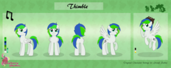Size: 6894x2744 | Tagged: safe, artist:raspberrystudios, oc, oc only, oc:thimble, pegasus, pony, commission, cutie mark, height difference, reference sheet
