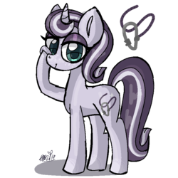 Size: 768x768 | Tagged: safe, artist:awoomarblesoda, oc, oc:sylvia glisten, pony, unicorn, female, magical lesbian spawn, mare, offspring, parent:maud pie, parent:starlight glimmer, parents:starmaud, simple background, solo, transparent background