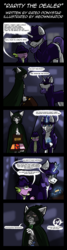 Size: 2000x7502 | Tagged: safe, artist:meownimator, rarity, spike, abyssinian, dragon, pony, unicorn, catnip, clothes, comic, hat
