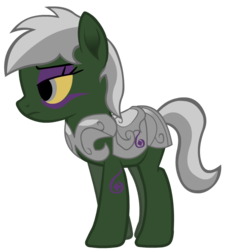 Size: 672x741 | Tagged: armor, armor pony, artist:thunder-blur, earth pony, female, mare, oc, oc:necroma, oc only, pony, safe, simple background, solo, transparent background, undead