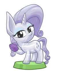 Size: 7087x8564 | Tagged: safe, artist:stewart501st, part of a set, rarity, crystal pony, miss pie's monsters, absurd resolution, bandage, bandaged hoof, clarity, cute, looking at you, pocket ponies, pocket pony, raribetes, simple background, species swap, transparent background