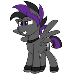 Size: 1280x1280 | Tagged: anklet, artist:besttubahorse, clothes, grin, jewelry, male, necklace, oc, oc:slash, pegasus, safe, simple background, smiling, solo, stallion, transparent background, unobtrusive watermark, vector