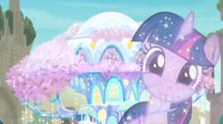Size: 1920x1076 | Tagged: safe, screencap, tree of harmony, pony, uprooted, female, implied twilight sparkle, solo, treehouse of harmony, treelight sparkle, treelightbetes
