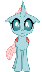 Size: 2734x4688 | Tagged: artist:besttubahorse, changedling, changeling, cute, diaocelles, front view, ocellus, safe, simple background, solo, spoiler:s09e03, transparent background, uprooted, vector