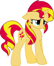 Size: 2452x3000 | Tagged: artist:midnight-st4r, cute, female, floppy ears, mare, pony, sad, sadorable, safe, shimmerbetes, simple background, solo, sunset shimmer, transparent background, unicorn, vector