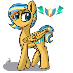 Size: 768x768 | Tagged: artist:awoomarblesoda, male, oc, oc:zippercharge, offspring, parent:flash sentry, parents:flashimmer, parent:sunset shimmer, pegasus, pony, safe, simple background, solo, stallion, transparent background