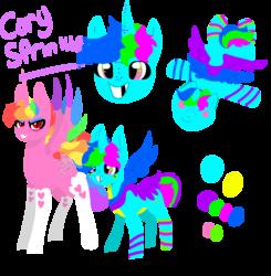 Size: 1940x1980   Tagged: safe, artist:nootaz, oc, oc:cory sprinkles, oc:prince bloodshed, alicorn, pony, alicorn oc, donut steel, reference sheet