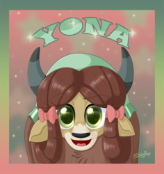 Size: 800x848 | Tagged: artist:unisoleil, cute, safe, solo, yak, yona, yonadorable