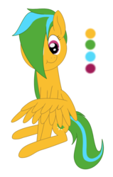 Size: 1065x1675 | Tagged: safe, artist:hopesome-way, oc, oc only, oc:gleaming copse, pegasus, pony, female, mare, simple background, sitting, solo, transparent background