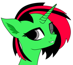 Size: 3769x3369 | Tagged: safe, artist:keshakadens, oc, oc:lucky chip, pony, unicorn, bust, simple background, solo, white background