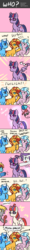 Size: 500x4135 | Tagged: age of empires, alicorn, alicornified, artist:tzc, classical hippogriff, comb, comic, derpy hooves, female, glasses, glitter, guessing game, hair dryer, hippogriff, imitation, mare, minuette, moondancer, pinkie pie, pony, race swap, rainbow dash, rarity, recolor, safe, sci-twi, scitwilicorn, silverstream, smiling, spike, sunglasses, sunset shimmer, treelight sparkle, tree of harmony, twilight sparkle, twilight sparkle (alicorn), unicorn, wololo