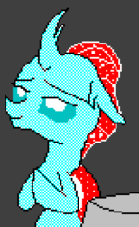 Size: 440x715 | Tagged: 16 colors, artist:derek the metagamer, aseprite, changedling, changeling, ocellus, pixel art, praying, safe, spoiler:s09e03, uprooted
