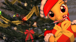Size: 3840x2160 | Tagged: safe, artist:epiclper, oc, oc only, oc:epiclper, pony, 3d, candy, candy cane, christmas, christmas ornament, christmas tree, decoration, food, holiday, present, solo, source filmmaker, tree