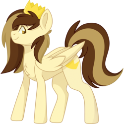 Size: 2048x2048 | Tagged: safe, artist:cinnamontee, oc, oc:prince whateverer, pegasus, pony, crown, jewelry, male, regalia, simple background, solo, stallion, transparent background