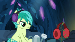 Size: 1920x1080 | Tagged: safe, screencap, sandbar, earth pony, pony, uprooted, earmuffs, male, sapling, watering can