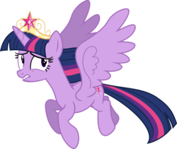 Size: 9000x7598 | Tagged: alicorn, artist:korsoo, big crown thingy, crown, female, flying, jewelry, mare, pony, princess twilight sparkle (episode), regalia, safe, simple background, solo, transparent background, twilight sparkle, twilight sparkle (alicorn), vector, wings