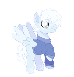 Size: 468x482 | Tagged: safe, artist:foxysparkle, oc, pegasus, pony, base used, clothes, simple background, solo, sweater, transparent background