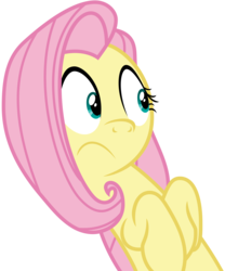 Size: 4991x6001 | Tagged: safe, artist:korsoo, fluttershy, pony, buckball season, .svg available, absurd resolution, cute, female, frown, looking at something, mare, reaction image, shyabetes, simple background, solo, transparent background, vector, wide eyes