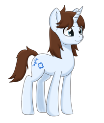 Size: 8000x9456 | Tagged: absurd res, artist:chedx, blue eyes, blue fur, brown mane, colored, commission, cutie mark, digital art, full body, male, oc, oc:field seeker, oc only, pony, safe, simple background, solo, stallion, transparent background, unicorn