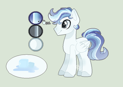 Size: 691x488 | Tagged: safe, artist:foxysparkle, oc, oc:tracy thawed ice, pegasus, pony, base used, male, reference sheet, simple background, solo, stallion