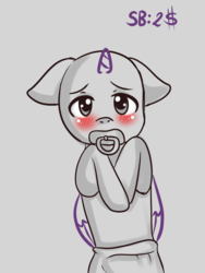Size: 2400x3200 | Tagged: abdl, artist:yumomochan, auction, baby, baby pony, blushing, commission, cute, diaper, pony, safe, shy, ychopen, your character here