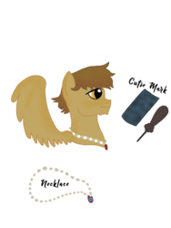 Size: 768x1024 | Tagged: safe, artist:dexterousdecarius, oc, oc:sandpaper, pegasus, pony, back freckles, freckles, gradient mane, implied canon x oc, implied polyamory, implied shipping, jewelry, male, necklace, simple background, solo, transparent background, wing freckles