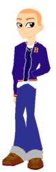 Size: 194x592 | Tagged: base used, boots, bully, bully (video game), buzz cut, clothes, equestria girls, equestria girls-ified, human, jacket, jeans, jimmy hopkins, logo, open jacket, pants, pocket, safe, shoes, simple background, solo, transparent background, unzipped, vector, vest, zipper