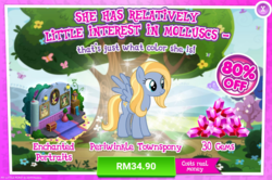 Size: 1038x689 | Tagged: safe, aurora (character), king grover, yickslur, pegasus, pony, advertisement, background pony, costs real money, female, gameloft, gem, grover, mare, official, sale