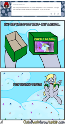 Size: 1280x2402 | Tagged: safe, artist:outofworkderpy, derpy hooves, ditzy doo, pegasus, pony, comic:out of work derpy, cloud, comic, female, mare, outofworkderpy, puzzle, solo, tumblr, tumblr comic