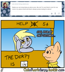 Size: 1280x1404 | Tagged: safe, artist:outofworkderpy, derpy hooves, ditzy doo, pegasus, pony, comic:out of work derpy, charlie brown, comic, duo, female, mare, outofworkderpy, peanuts (comic), ponified, tumblr, tumblr comic