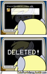 Size: 1280x2034 | Tagged: safe, artist:outofworkderpy, derpy hooves, ditzy doo, pegasus, pony, comic:out of work derpy, comic, computer, female, homestar runner, mare, outofworkderpy, sbemails, solo, tumblr, tumblr comic