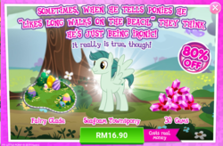 Size: 1044x686 | Tagged: advertisement, background pony, costs real money, gameloft, green, official, pony, safe, sale, unnamed pony