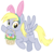 Size: 3000x3000 | Tagged: artist:cheezedoodle96, basket, bunny ears, derpy hooves, easter, easter basket, easter egg, female, flying, grass, holiday, looking at you, mare, mouth hold, pegasus, pony, safe, simple background, solo, svg, .svg available, transparent background, vector, waving