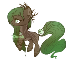 Size: 906x741 | Tagged: safe, artist:du-sk, oc, oc:evergreen, original species, solutai pony, female, simple background, solo, transparent background