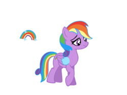 Size: 1024x768 | Tagged: artist:turnaboutart, base used, magical lesbian spawn, oc, offspring, parent:rainbow dash, parents:twidash, parent:twilight sparkle, pegasus, safe, solo, unnamed oc