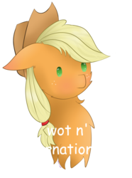 Size: 1017x1365 | Tagged: safe, artist:sugarsprink, applejack, pony, beady eyes, bust, cheek fluff, chest fluff, cute, floppy ears, jackabetes, portrait, simple background, solo, transparent background, what in tarnation