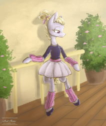 Size: 919x1084 | Tagged: safe, artist:ladichuma, hoofer steps, pony, bipedal, clothes, solo, tutu