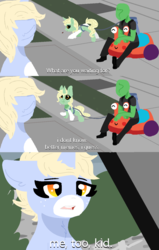 Size: 940x1480 | Tagged: artist:nootaz, child leash, comic, oc, oc:anon, oc:lucky suzie, oc:nootaz, safe, the incredibles